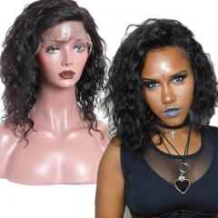Fashion Curly Remy Human Hair Lace Front Wigs Bob Cut Wigs With Natural Baby Hair Pre Plucked Large Stock Fast Shipping