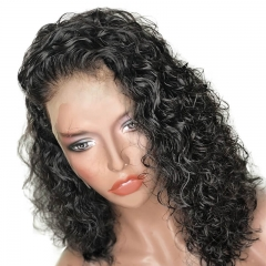 Natural Color Brazilian Hair Bob Wig Curly Unprocessed Human Hair Lace Front Wigs Pre Plucked Hair Line With Baby Hair