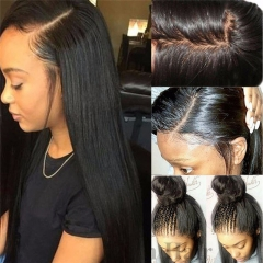 Glueless Silk Base Full Lace Wigs 100% Brazilian Human Hair Wig With Baby Hair Long Natural Straight Pre Plucked Free Part For Black Women