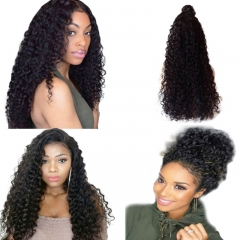 Lace Front Wigs Human Hair With Baby Hair Glueless Virgin Hair Deep Wave Curly Full Lace Wigs For Black Women 130% Density Natural Color Full Lace Wig