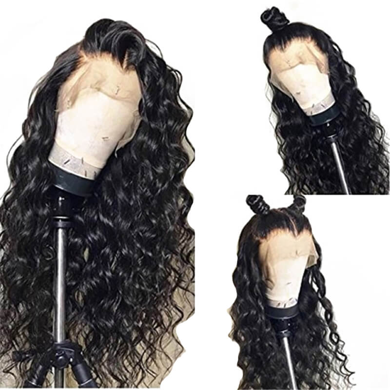 13x6 Lace Frontal Wigs Deep Wavy Hair lace frontal human hair wig For Black Women