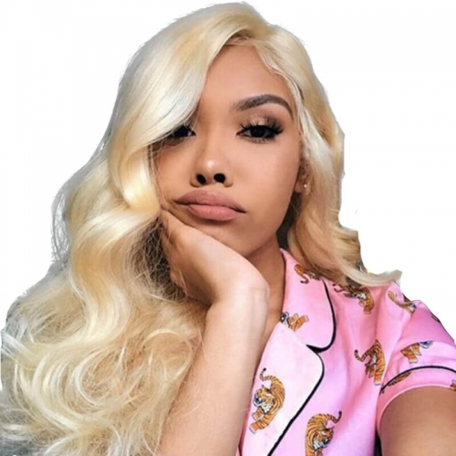 360 Lace Frontal Wig Pre Plucked With Baby Hair Body Wave 613 Blonde Lace Front Wig For Women Black 150% Density Brazilian Wig