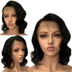Human Hair Short Bob Cut Wigs Natural Baby Hair Pre Plucked Lace Front Wig Full Density Side Parting For Women