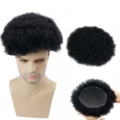 Swiss Lace Human Hair Men's Toupee Size 10x8inch Transparent Invisible Lace System 130% Full Density Natural Black Color Wigs For Men