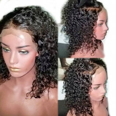13x6 Lace Front Human Hair Wigs Brazilian Virgin Hair Curly Glueless Lace Front Wig for Black Women