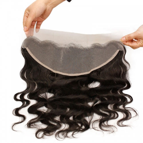Transparent Swiss Lace Frontal Closure Body Wave Brazilian Human Hair 13X4 Lace Frontal With Natural Baby Hair