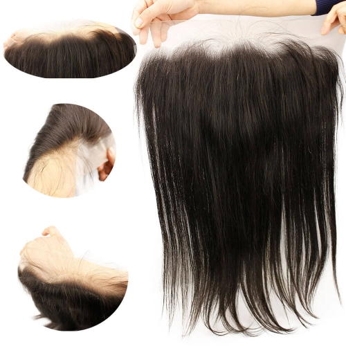 Transparent Lace Frontal Closures with Baby Hair 13x6 Lace Frontals Brazilian Straight Human Hair