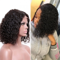 Curly Brazilian Hair 360 Lace Wigs Natural Baby Hair Pre Plucked Hair Line Natural Color Wig Fast Shipping