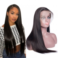 Silky Straight Human Hair 360 Lace Frontal Wigs Pre Plucked Hair Line with Baby Hair Braizlian Remy Hair Lace Front Wig Online