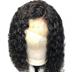 130% Density Full Lace Wig Human Hair For Women Brazilian Remy Hair Curly Lace Front Wigs With Baby Hair Bleached Knots
