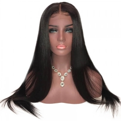 Lace Front Wig Human Hair For Women Brazilian Remy Hair 150% Silky Straight Pre Plucked With Baby Hair Bleached Knots
