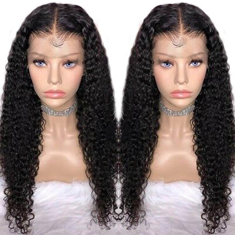 13x6 Lace Front Wig Human Hair For Women Brazilian Remy Hair Pre Plucked 150% Curly Lace Wigs With Baby Hair Bleached Knots