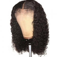 Curly 360 Lace Frontal Wig Pre Plucked With Baby Hair For Women 150% Human Hair Wigs Brazilian Remy Hair Bleached Knots