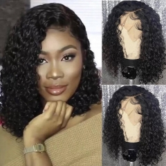 Bob Style Lace Front Human Hair Lace Wigs Unprocessed Human Hair Wig Pre Plucked Hair Line Natural Baby Hair Curly Brazilian Remy Hair