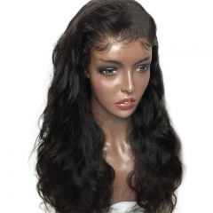 Body Wave Full Lace Human Hair Wigs 130 Density Pre Plucked Brazilian Remy Hair For Women With Baby Hair Bleached Knots