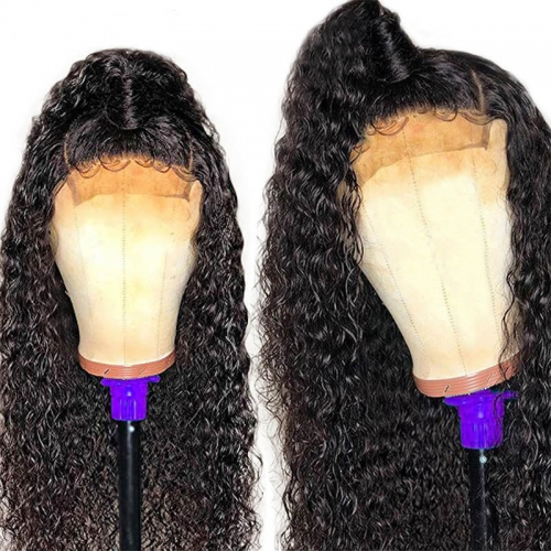 Curly Full Lace Human Hair Wigs 150 Density Pre Plucked Brazilian Remy Hair For Women With Baby Hair Bleached Knots