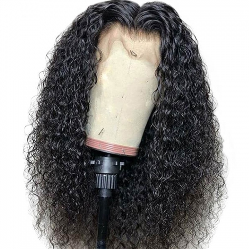 Curly 360 Lace Frontal Wigs Pre Plucked 150% Density Brazilian Remy Hair For Women With Baby Hair Natural Hairline