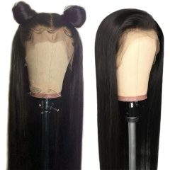 Pre Plucked Human Hair Silky Straight Glueless Full Lace Wigs With Natural Baby Hair Fast Shipping Wigs For Women