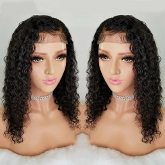 Curly Lace Front Wig Pre Plucked For Women 130% Brazilian Remy Hair Natural Hairline With Baby Hair Bleached Knots