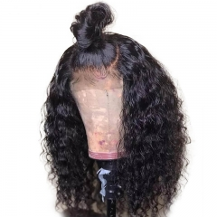 Curly Full Lace Human Hair Wigs 150% Pre Plucked Glueless Brazilian Remy Hair With Baby Hair For Women Bleached Knots