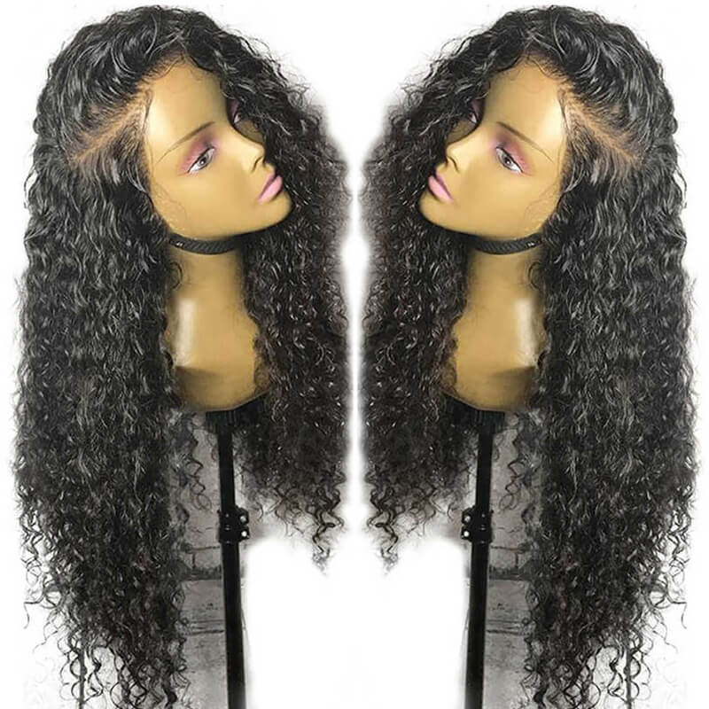Curly Lace Front Wigs Natural Color Human Hair 180% Pre Plucked With Baby Hair For Women Brazilian Remy Hair Wigs Bleached Knots