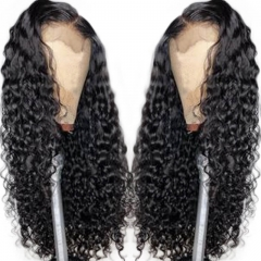 Curly Lace Front Wigs 150% Pre Plucked Brazilian Remy Hair With Baby Hair All Around Natural Hairline Bleached Knots For Women