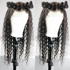 Curly 360 Frontal Wigs Pre Plucked 150% Brazilian Remy Hair With Baby Hair For Black Women Natural Hair Line Bleached Knots