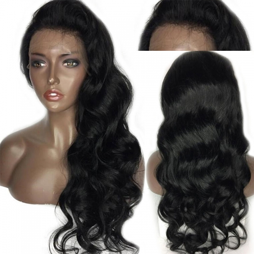 Lace Front Human Hair Wigs 130 Density For Black Women Brazilian Body Wave Wigs Remy Hair Bleached Knots With Baby Hair