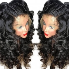 Loose Wave Lace Front Wig 150% Pre-Plucked With Baby Hair For Women Natural Hairline Glueless Wig Brazilian Remy Hair
