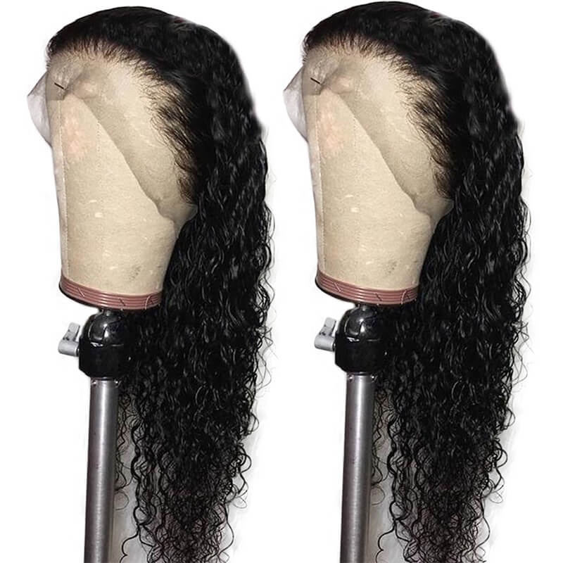Curly Lace Front Wig Pre Plucked Human Hair 130% Density For Women Brazilian Remy Hair Glueless With Baby Hair Bleached Knots