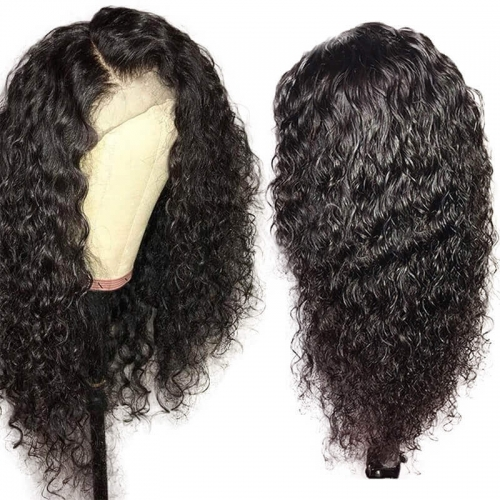 Curly Human Hair Wig Pre Plucked 130% Lace Front Wigs Brazilian Remy Hair For Women With Baby Hair Bleached Knots