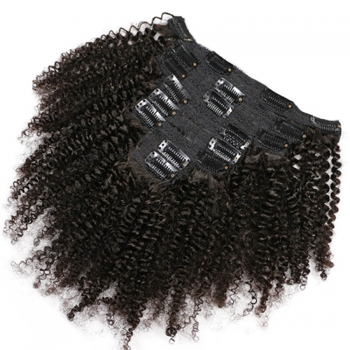 Brazilian Human Hair Extension Natural Color Clips In Hair Extension 10-24 Inch 80g 120g In Stock