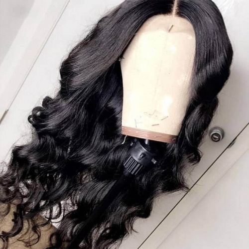Loose Wave Lace Front Wig Pre Plucked With Baby Hair For Black Women Brazilian Remy Hair Natural Hairline Bleached Knots