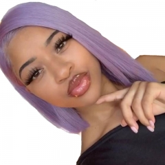 Purple Brazilian Human Hair 13X4 Lace Front Wigs Pre Plucekd Hair line with Natural Baby Hair Fast Shipping