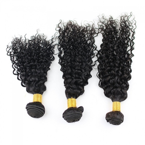 Brazilian Unprocessed Virgin Remy Human Hair Extension Weave Natural Color