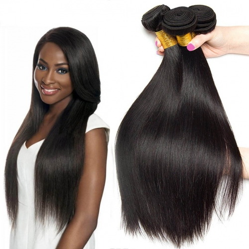 8A Malaysian Silky Straight Hair 4 Bundles 100% Unprocessed Human Virgin Hair Weave Extensions Natural Color (12 14 16 18)