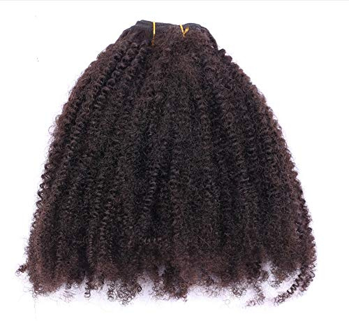 Kinky Curly 1/3/4 Brazillian Hair Bundles Remy Weft Human Hair Black Color