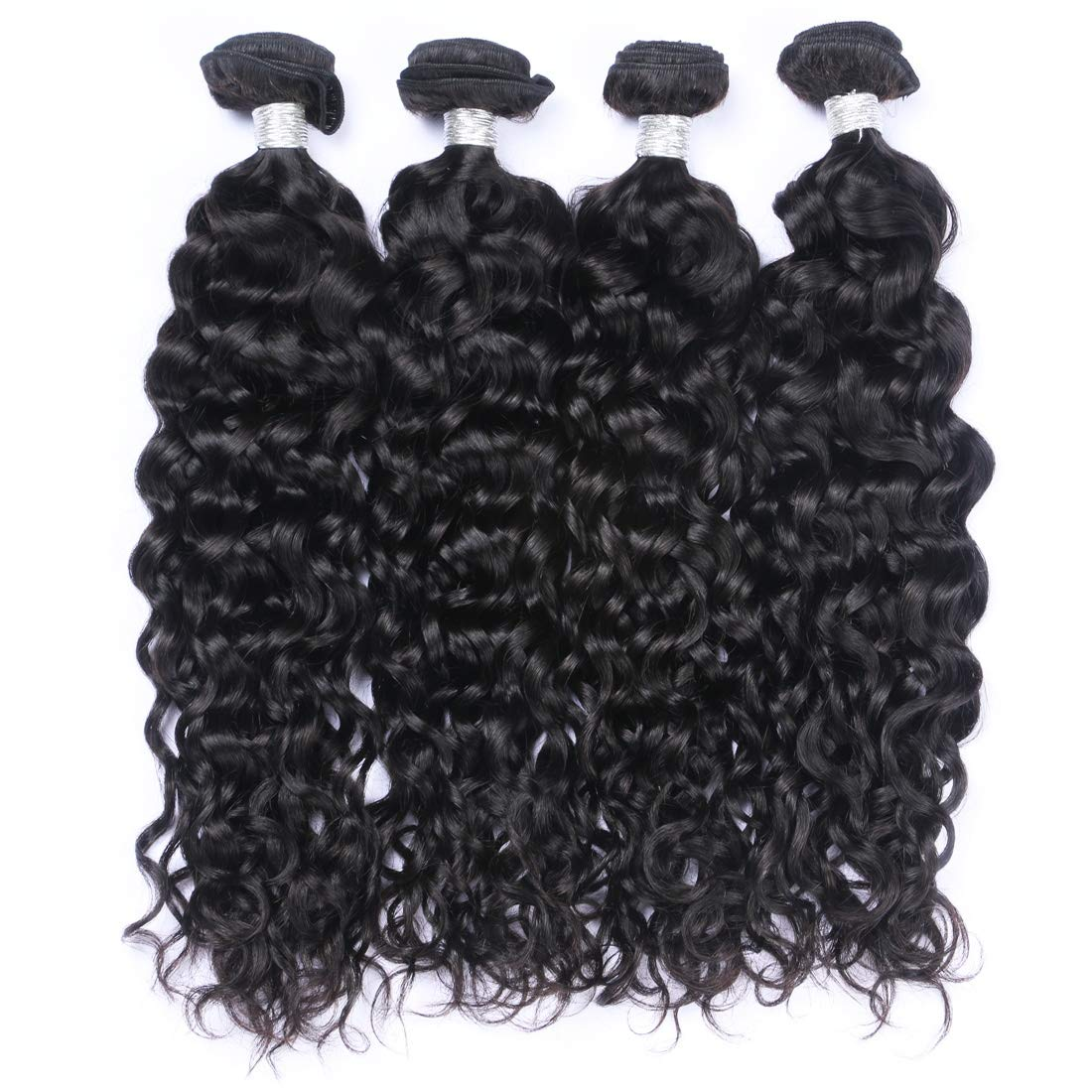 8A Peruvian Hair Bundles Water Wave Natural Wave Hair Bundles Wet and Wavy Deep Curly Weave Human Hair Bundles 100% Remy Human Hair Extensions Natural