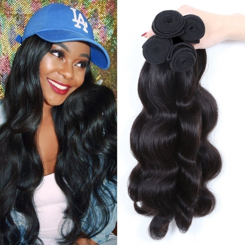 Brazilian Virgin Hair Body Wave 4 Bundles Brazilian Human Hair Weave Bundles Hair Products 100% Real Human Hair Extensions(26 26 26 26)