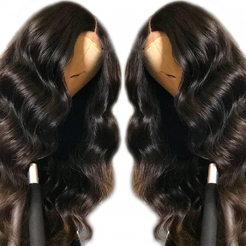 Transparent Full Lace Wigs Glueless Body Wave Brazilian Remy Hair Pre Plucked Natural Hairline With Baby Hair