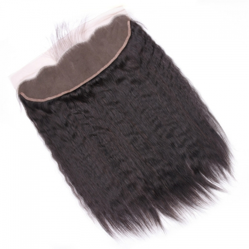 Wholesale Kinky Straight 13x4 Lace Frontal Brazilian Human Hair Ear To Ear Lace Frontals
