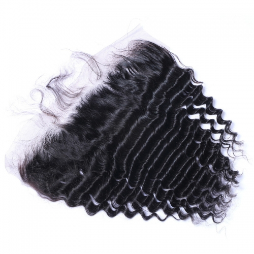 Wholesale Deep Curly 13x4 Lace Frontal Brazilian Human Hair Ear To Ear Lace Frontals