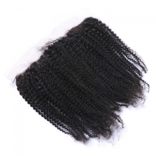 Wholesale Kinky Curly 13x4 Lace Frontal Brazilian Human Hair Ear To Ear Lace Frontals