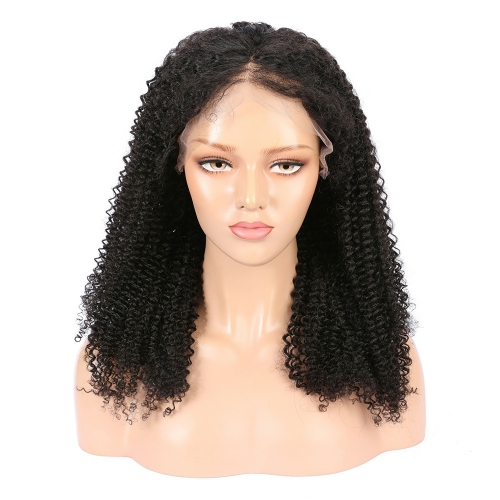 Wholesale 13x4 Lace Front Wig Free Part Kinky Curly100% Human Hair