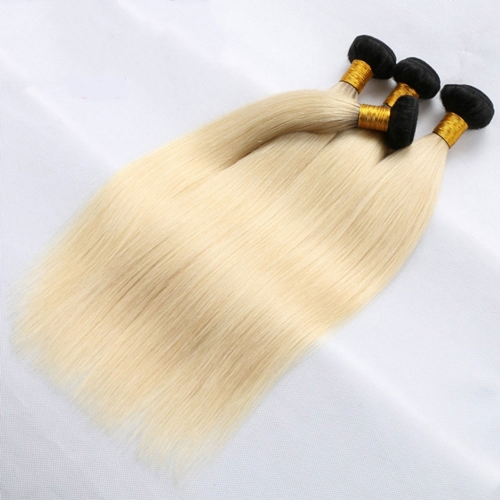 Wholesale Platinum Blonde #1B 613 Straight Hair Bundle(100grams/bundle)