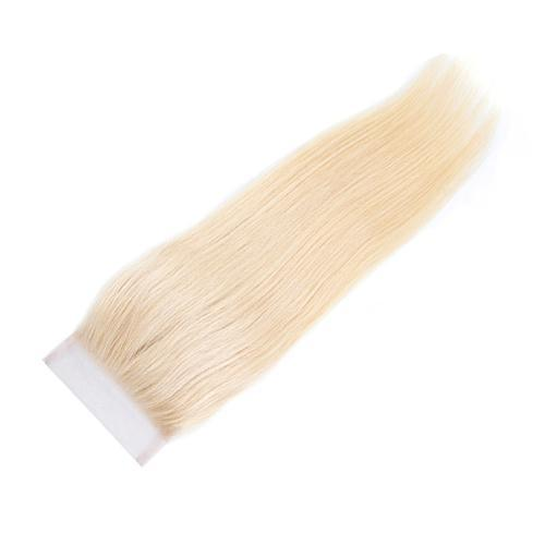 Wholesale #613 Straight Lace Closure Human Hair Blonde Closure