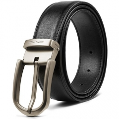 BOSTANTEN Genuine Leather Belts for Men Adjustable Dress Click Belt