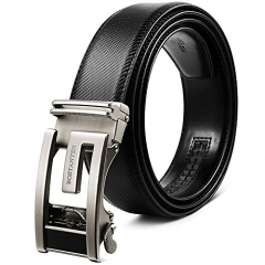BOSTANTEN Leather Ratchet Dress Belts for men with Automatic Sliding Click Buckle in Gift Box, Trim to Fit