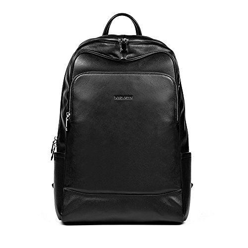 BOSTANTEN Leather Backpack School Laptop Travel Camping Computer Shoulder Bag Gym Sports Backpacks For Men