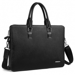 BOSTANTEN Leather Briefcase Shoulder Laptop Business Slim Bag for Men & Women